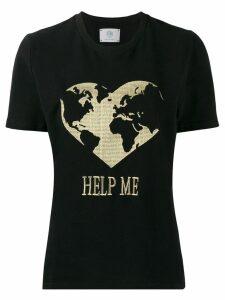 Alberta Ferretti Help Me T-shirt - Black