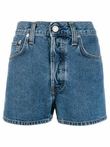 Helmut Lang high-waisted denim shorts - Blue