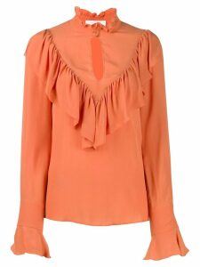 See by Chloé ruffled blouse - ORANGE
