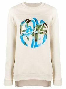 Alberta Ferretti contrast print sweatshirt - NEUTRALS