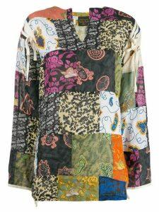 Loewe patch work blouse - Blue