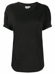 Isabel Marant Étoile slim-fit linen t-shirt - Black