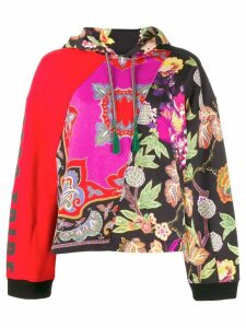 Etro patchwork floral hoodie - Red