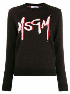 MSGM logo print jumper - Black