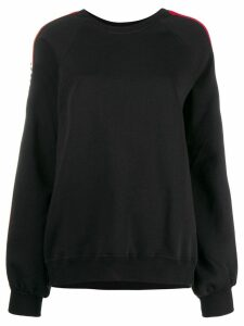 MSGM logo tape sweatshirt - Black