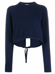 Chloé long sleeve cropped sweater - Blue