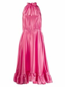 MSGM bow and ruffles dress - PINK