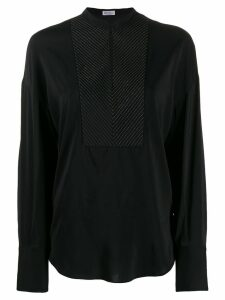 Brunello Cucinelli long sleeved blouse - Black