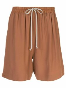 Rick Owens high-waisted track shorts - Brown