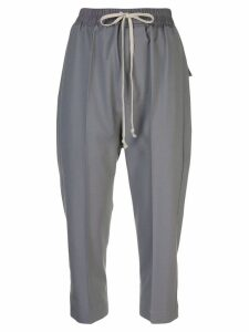 Rick Owens cropped track trousers - Grey