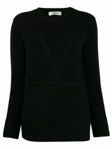 Valentino V embroidered sweater - Black