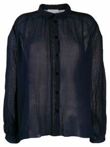 Forte Forte perforated trim blouse - Blue
