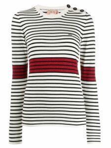 Nº21 breton stripe jumper - White