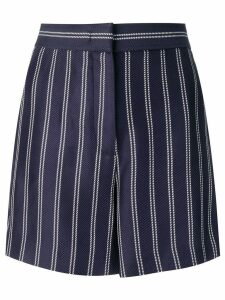 Emilio Pucci Pinstripe Jacquard Shorts - Blue