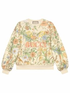 Gucci Oversize sweatshirt with Flora print - White