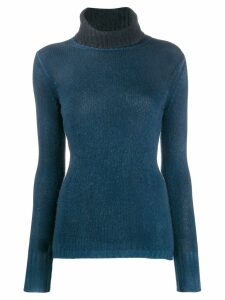 Avant Toi turtleneck cashmere jumper - Blue