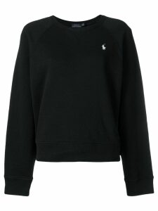 Polo Ralph Lauren logo embroidered sweatshirt - Black