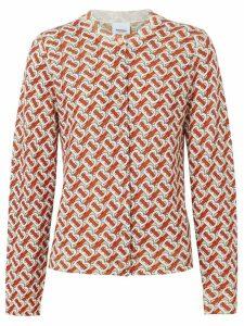 Burberry Monogram Print Merino Wool Cardigan - Red