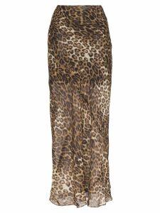 Nili Lotan Ella leopard print maxi skirt - Brown