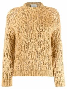 Forte Forte crochet knit jumper - Neutrals