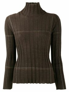 Lorena Antoniazzi ribbed high-neck sweater - Brown