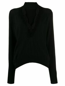 Pinko lace embellished cut out sweater - Black