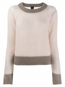 Pinko cropped knitted sweater - Neutrals