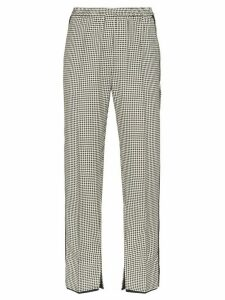 Golden Goose Minori high-rise checked trousers - White