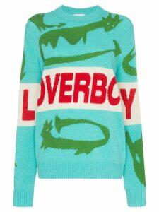 Charles Jeffrey Loverboy Loverboy crocodile intarsia knit jumper -