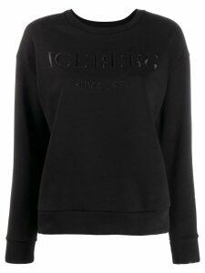 Iceberg logo embellished sweatshirt - Black