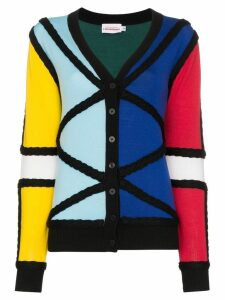 Charles Jeffrey Loverboy colour-block knitted cardigan - Multicolour