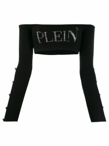 Philipp Plein cropped knit top - Black