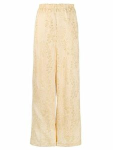 Forte Forte gold-tone embroidered trousers - NEUTRALS