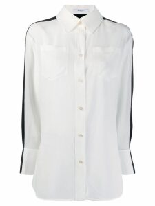 Givenchy two-tone silk shirt - White