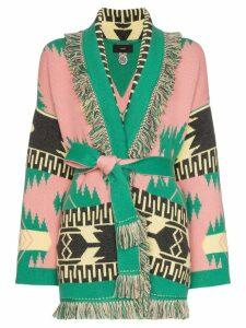 Alanui geometric jacquard cashmere cardigan - Multicolour