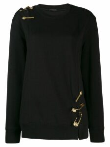 Versace Medusa detailed knit jumper - Black