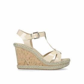 Carvela Karoline - Nude High Heel Wedge Sandals