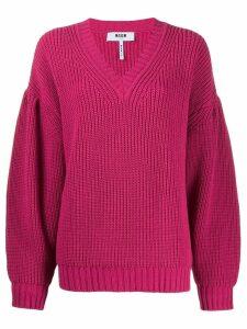 MSGM chunky knit jumper - PINK