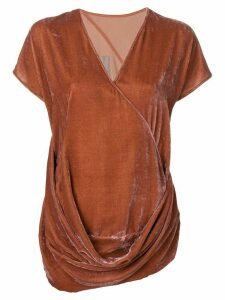 Rick Owens draped top - ORANGE