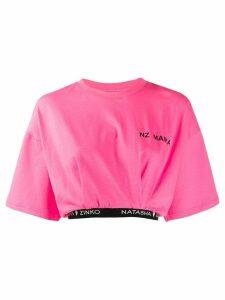 Natasha Zinko logo cropped T-shirt - PINK