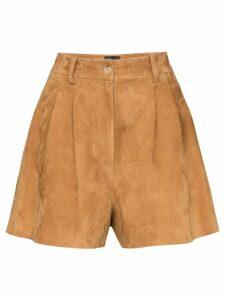 Nili Lotan Roxana high-waisted shorts - Brown