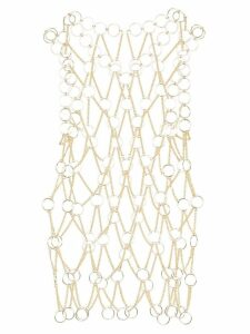 Paco Rabanne metallic chainmail top - GOLD