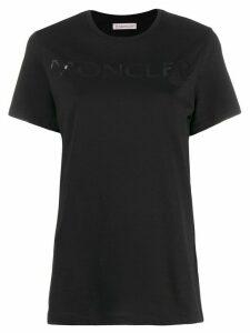 Moncler printed logo T-shirt - Black