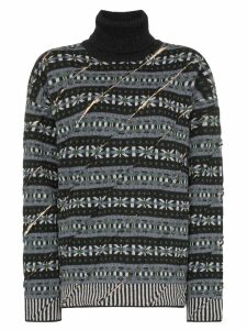 Y/Project printed roll neck sweater - Grey