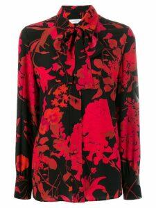 Valentino silk floral print blouse - Black