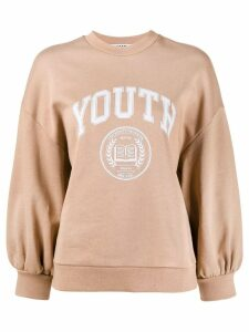 MSGM youth print sweatshirt - Brown