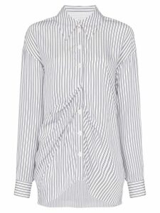 Tibi gathered-front striped shirt - Blue