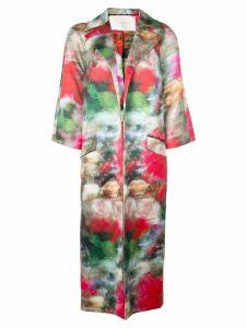 Adam Lippes floral coat - Multicolour