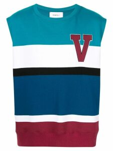 Ports V striped logo tank top - Multicolour