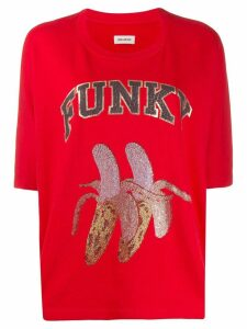 Zadig & Voltaire Funky print T-shirt - Red